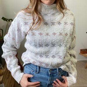 Vintage cottage core cotton sweater